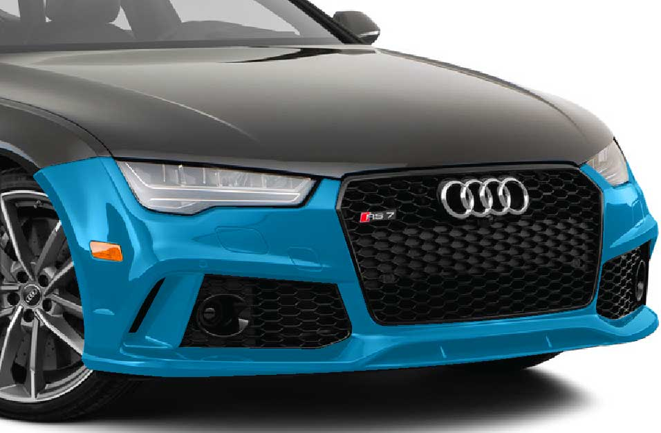 Graphic of front bumper paint protection