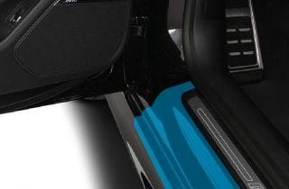graphic representation of door sills paint protection