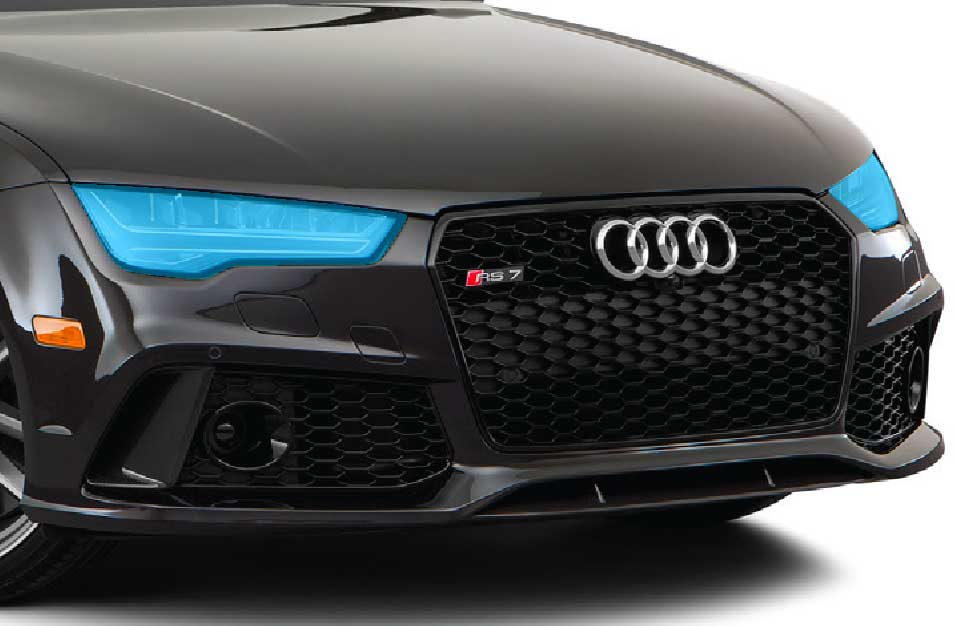 Graphic of head lights paint protection